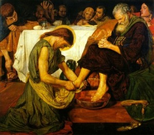 The Servant Jesus - Peter seems none too happy with this arrangement.